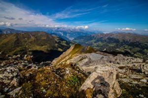 Фотография Швейцария Гора Небо Альпы Скала Graubünden