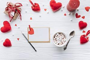 Фото День всех влюблённых Сердечко Шаблон поздравительной открытки Маршмэллоу