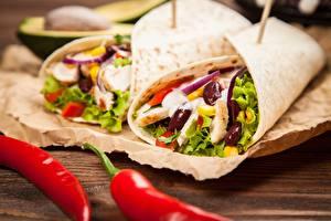 Обои Овощи Фастфуд tortilla Продукты питания