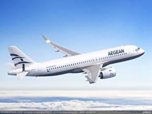 Обои Airbus Самолеты Пассажирские Самолеты Полет SX-NEA Aegean Airlines, A320neo