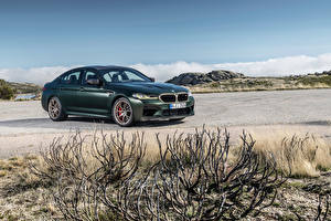 Картинка BMW Зеленых Металлик M5 CS, Worldwide, (F90), 2021 автомобиль