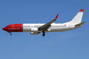 Картинки Boeing Самолеты Пассажирские Самолеты Сбоку 737-800W, Norwegian Air International