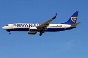 Картинка Боинг Самолеты Пассажирские Самолеты Сбоку 737-800W, Ryanair