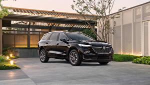 Обои Бьюик Черный Металлик CUV Enclave Avenir, 2021 автомобиль