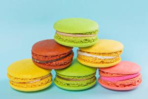 Обои Вблизи Цветной фон Макарон Разноцветные Пища