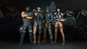 Фотография Киберпанк 2077 Люди компьютерная игра