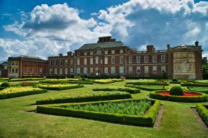 Фотографии Англия Дома Ландшафтный дизайн Газоне Облако Wimpole Estate Города