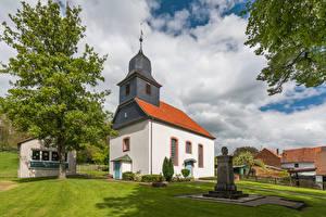 Картинки Германия Церковь Памятники Ersen