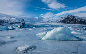 Фото Исландия Горы Озеро Льда Jökulsárlón