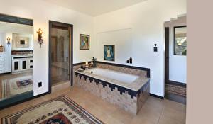 Обои для рабочего стола Интерьер Ванная Дизайна