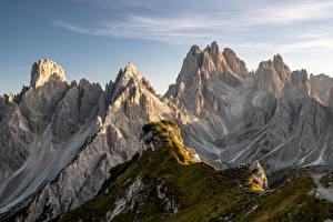 Картинки Италия Гора Утес Альпы Dolomites