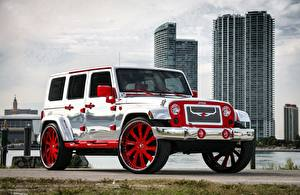 Картинка Jeep Тюнинг Серебряный Wrangler