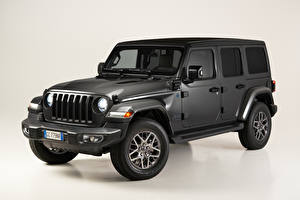 Картинки Джип SUV Серые Wrangler Unlimited 4xe 'First Edition', EU-spec, (JL), 2021