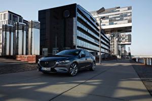 Фото Мазда Серый Металлик 2018-19 Mazda 6 Worldwide авто