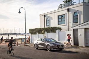 Обои для рабочего стола Mazda Серый Металлик 2019 Mazda 3 Sedan авто