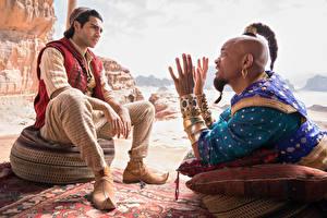 Обои Мужчины Will Smith Украшения Сидящие Рука Негр Aladdin (2019, Mena Massoud Фильмы Знаменитости