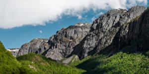 Фотографии Норвегия Гора Утес Gjesdal