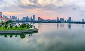 Обои Сингапур Здания Берег Залив Tanjong Rhu город