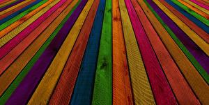 Фотографии Текстура Доски Разноцветные