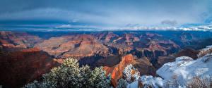 Обои для рабочего стола США Парки Пейзаж Гранд-Каньон парк Скалы Arizona Природа