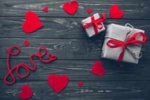 Фото День всех влюблённых Сердца Подарки Доски