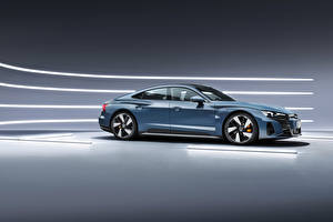 Обои Audi Серые Металлик e-tron GT quattro, Worldwide, 2021