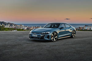 Фотография Ауди Серая Металлик e-tron GT quattro, Worldwide, 2021 авто