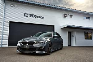 Фотография BMW Серые Металлик 2020 3D Design 330i Touring Автомобили