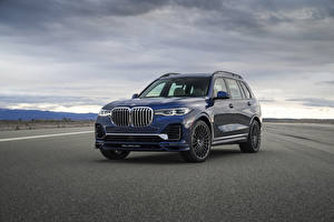 Фотографии BMW CUV Синие 2021 Alpina XB7 North America машина