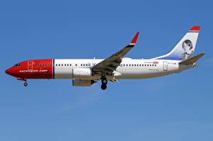 Фото Боинг Самолеты Пассажирские Самолеты Сбоку 737-800W, Norwegian Air International
