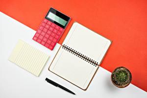 Картинки Кактусы Блокнот Лист бумаги Шариковая ручка
