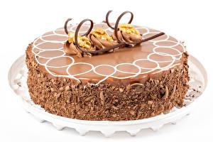 Картинка Торты Шоколад Белый фон Дизайн Пища