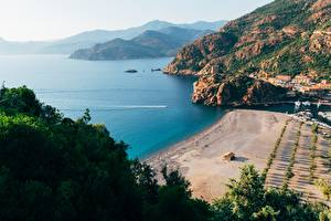 Обои Франция Берег Залив Gulf Porto, Corsica