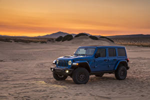 Фотографии Jeep SUV Синий 2021 Wrangler Unlimited Rubicon 392 Автомобили