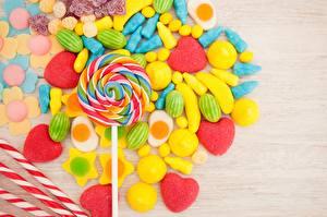 Картинка Леденцы Сладкая еда Конфеты Пища