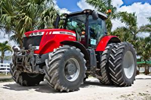 Картинки Красный Трактор Американский Massey Ferguson, MF 8670