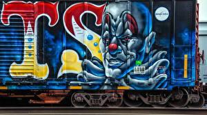 Фотографии Рисованные Граффити вагон