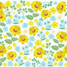 Обои для рабочего стола Рисованные Текстура цветок