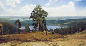Обои Пейзаж Картина Дерево Alexander Afonin Природа