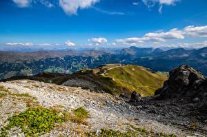 Фото Швейцария Горы Небо Альп Облака Graubünden