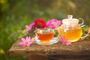 Обои Чай Чайник Космея Чашка Еда