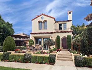 Обои Америка Дома Особняк Дизайн Кусты Newport Beach город