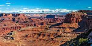 Фотография Штаты Парк Каньоны Утес Скала Canyonlands National Park, Utah