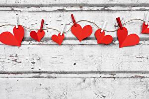 Картинка День святого Валентина Доски Прищепки Канат Сердце Шаблон поздравительной открытки