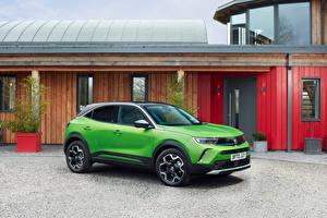 Обои для рабочего стола Vauxhall Кроссовер Зеленая Металлик Mokka-e, 2021 машины