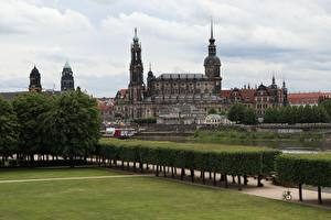 Фото Дрезден Германия Кустов Дизайн Газоне Дворец Saxony, Dresden Castle-Residence город