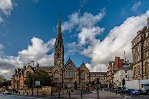 Фото Англия Собор Здания Облачно Башни St Mary's RC Cathedral, Newcastle