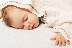 Фотографии Грудной ребёнок Спят Руки