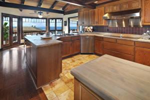 Обои Интерьер Дизайн Кухни Столы
