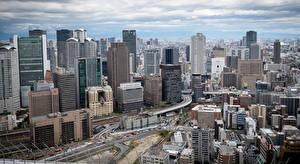 Фотография Япония Здания Небоскребы Osaka Города